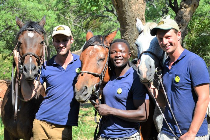 Hessel,Howard and Dilo have a great passion for horse riding