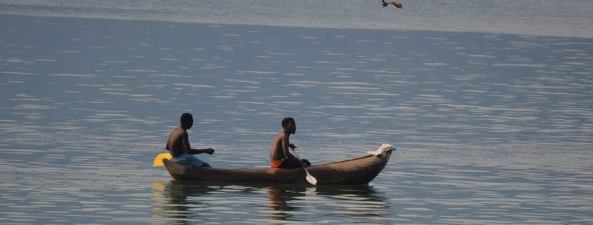 Traditional mokoro on Lake Malawi