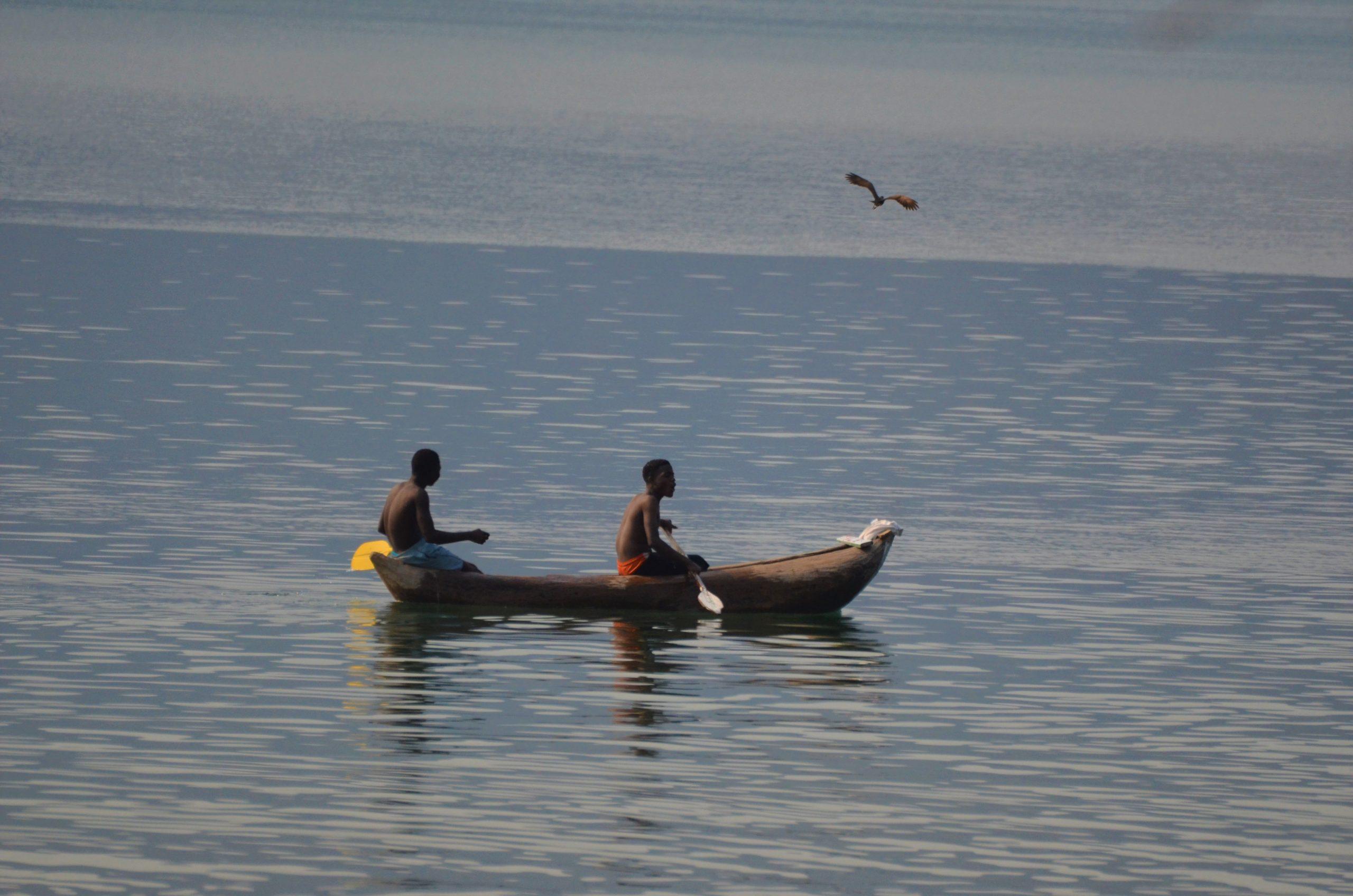 A traditional mokoro on Lake Malawi