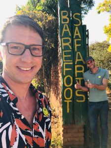Dilo and Hessel at Barefoot Safaris