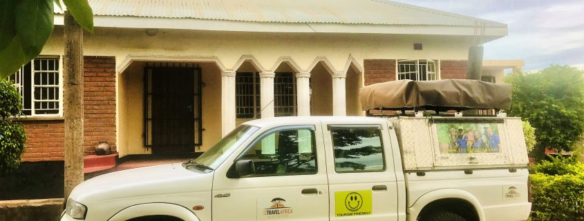 The bakkie in front of our new home