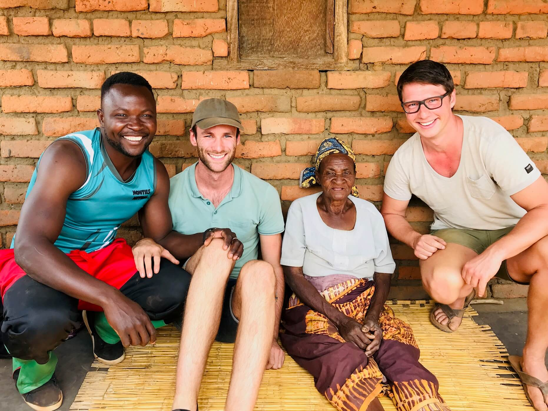 We met the oldest lady in a village in Malawi