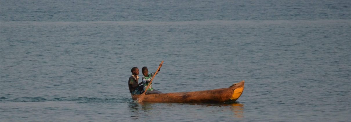 Fishermen boys on Lake Malawi