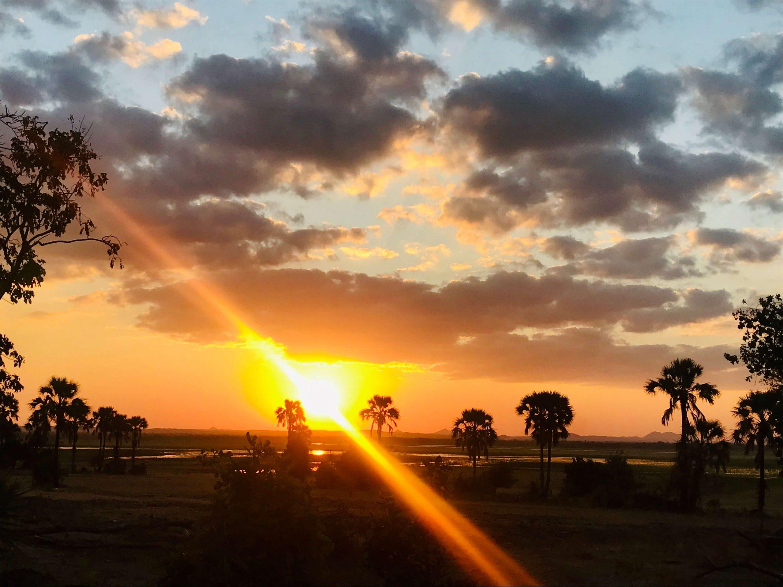 Sunset on safari in Liwonde National Park