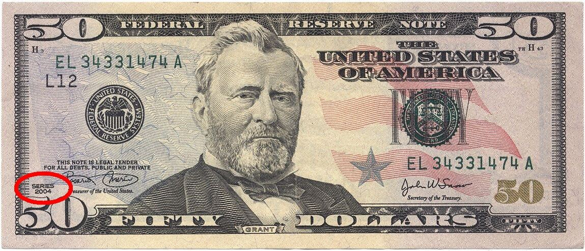 50 US dollar note