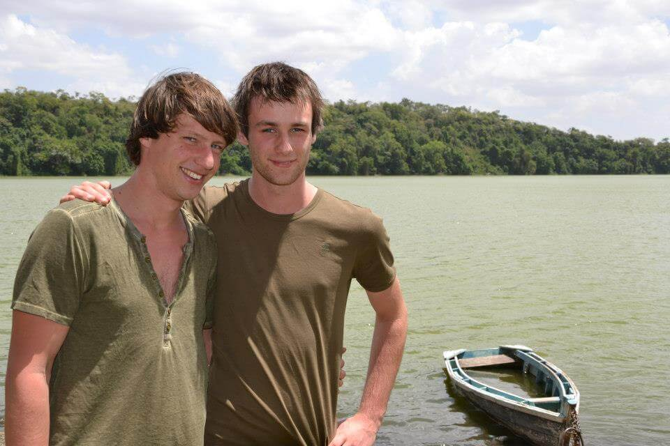 Dilo and Hessel in 2013 at Lake Duluti in Tanzania